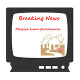 Television news illustration Stock Photo