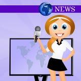 Television news Stock Photo