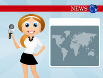 Television news Royalty Free Stock Image