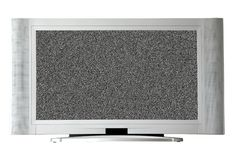 Television with noise on screen Stock Photography