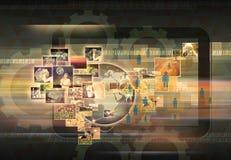 Television- och internetproduktion royaltyfri illustrationer
