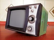 Television old construction Eighties Royalty Free Stock Image