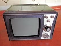 Television old construction Eighties Royalty Free Stock Photography