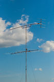 Television Old-style antenna. On the roof, taken from Kanchanaburi, Thailand Stock Image
