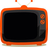 Television orange Royalty Free Stock Image