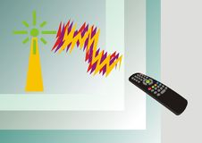 The television panel Royalty Free Stock Photos