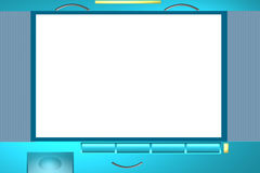Television photo frame Stock Photography