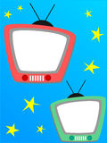 Television photo frame Royalty Free Stock Images