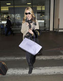 Television presenter Cat deeley at LAX airport Royalty Free Stock Image