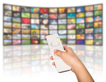 Television production concept. TV movie panels Stock Image