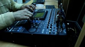 Television radio audio mixer board Stock Photo