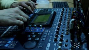 Television radio audio mixer board stock video footage