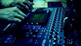 Television radio audio mixer board stock video