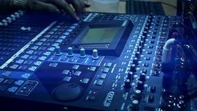 Television radio audio mixer board stock video footage