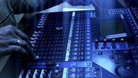 Television radio audio mixer board stock footage