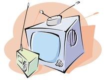 Television and radio set Stock Image