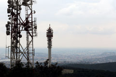 Television and radio tower Stock Photography