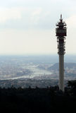 Television and radio tower Stock Photo