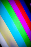 Television Rainbow Color Bars Stock Image