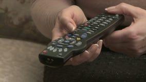 Television remote control stock video