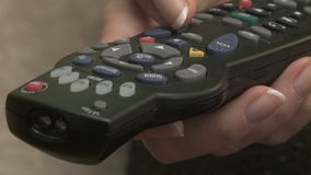 Television remote control stock footage