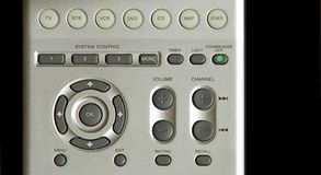Television remote control panel. Television remote control buttons Royalty Free Stock Photos