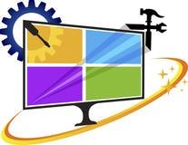 Television repair logo Royalty Free Stock Image