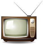 Television. Retro style television on white background Stock Photography