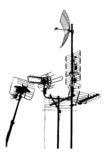 Television rooftop antennas Stock Images