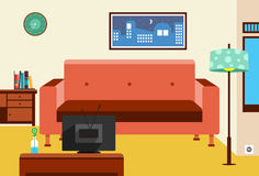 Television Room Royalty Free Stock Photos