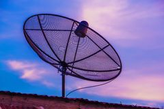 Television Satellite dish 5D3AF_7704 Royalty Free Stock Image