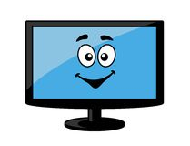 Television screen or computer monitor Royalty Free Stock Images