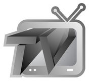Television screen icon Royalty Free Stock Image