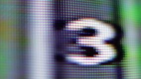 Television screen pixels, ten shots stock video