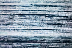 Television screen with static noise caused by bad signal reception royalty free stock images