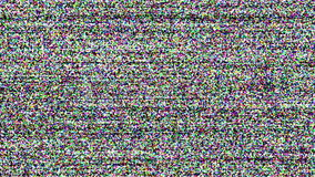 Television screen with static noise caused by bad signal reception stock video footage