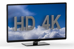 Television set with HD 4K Royalty Free Stock Photo