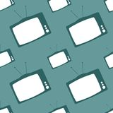 Television set seamless backdrop Royalty Free Stock Images