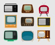 Television sets Stock Photos
