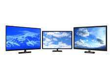 Television sets isolated on white background Royalty Free Stock Photos