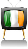 A television showing the flag of Ireland Stock Images