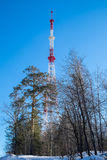 Television signal repeater tower Royalty Free Stock Photo