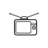 Television simple icon Royalty Free Stock Images