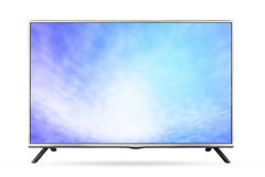 Television sky or monitor landscape isolated on white background, use clipping path Royalty Free Stock Photos