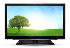 Television sky or monitor PC landscape isolated on white backgro Royalty Free Stock Image