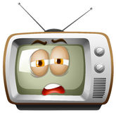 Television with sleepy face Stock Image