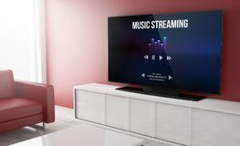 Television smart music streaming Royalty Free Stock Photo