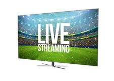television smart tv isolated with live streaming Stock Photos