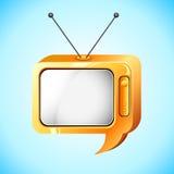 Television Speech Bubble Stock Photos