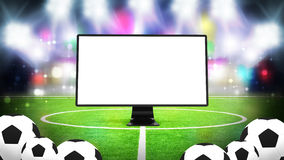 Television for sport  Royalty Free Stock Photos